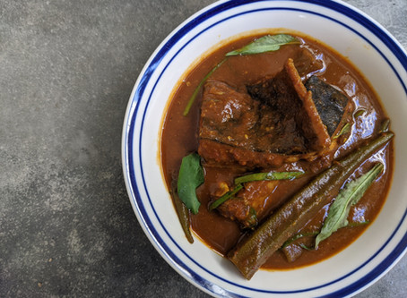 Malay Assam Pedas Ikan Pari (Stingray in Sour-spicy Gravy)