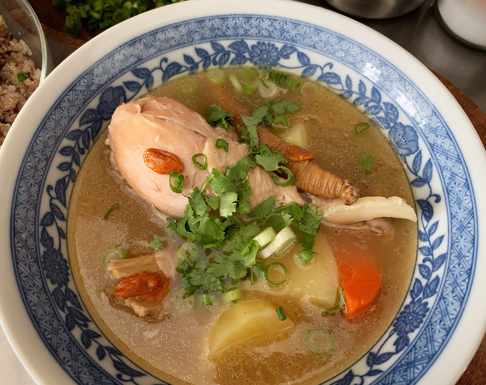 Alycooks Traditional Chinese Herbal Chicken Soup (Dun Ji Tang Liao)