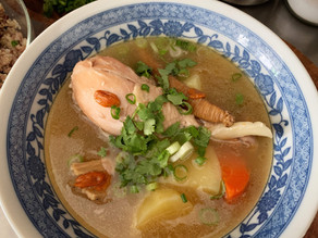 Traditional Chinese Herbal Chicken Soup (Dun Ji Tang Liao)