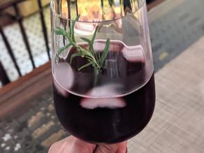 Tart Cherry & Rosemary Red Wine Spritzer