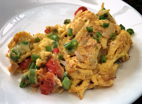 Cheesy Vegetable Scrambled Eggs