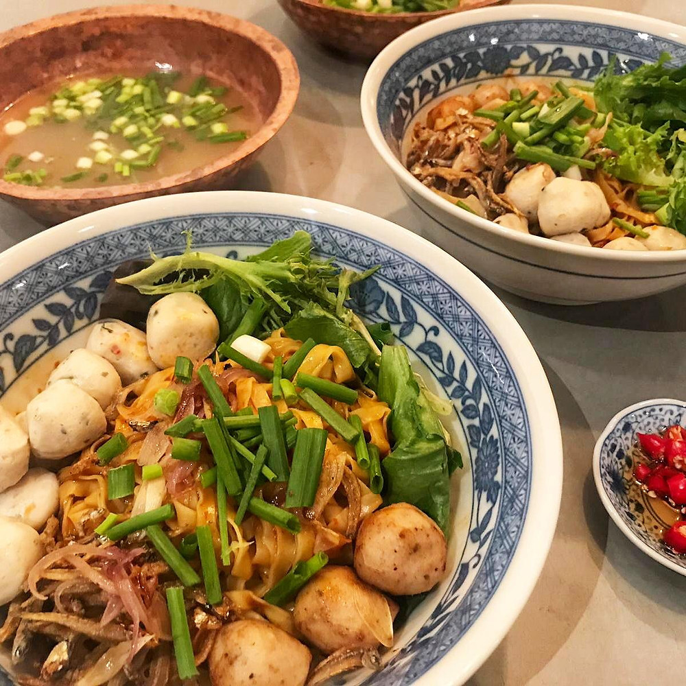 Hawker Fishball Noodles Mee Pok