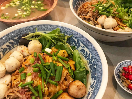 Fishball Noodles (Mee Pok Dry)