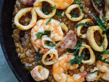 Brown Rice Seafood Paella