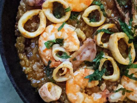 Brown Rice Seafood Paella