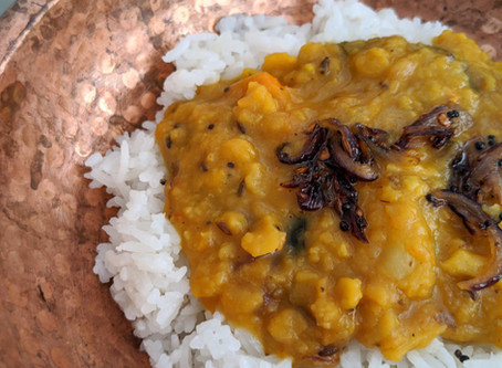 South Indian Dal Tadka (Lentil Curry)