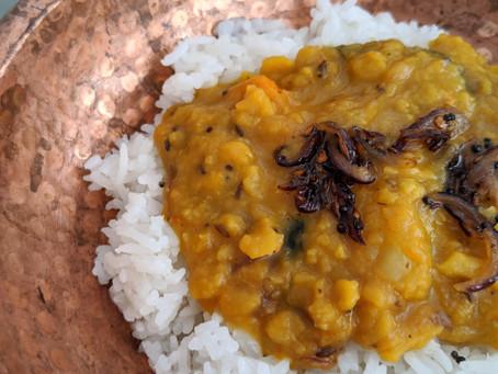 South Indian Dal Tadka (Lentil Curry)