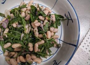 White Bean & Arugula Salad with Garlic Caper Vinaigrette