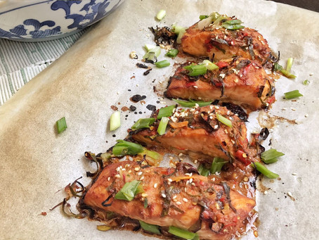Spicy Thai Baked Salmon
