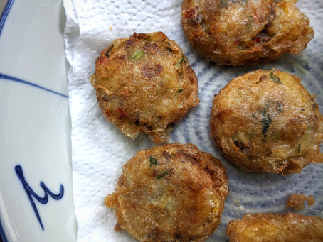 Lamb Begedil (Deep Fried Potato Patty)