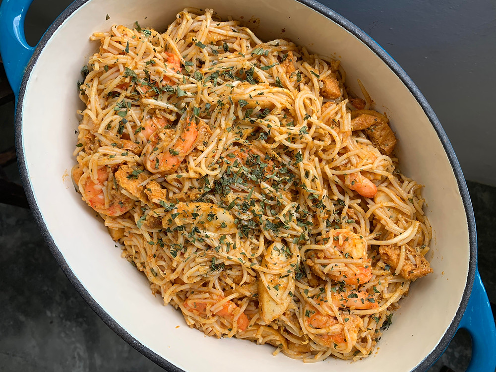 Alycooks Dry Seafood Laksa Recipe