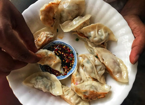 Chicken & Chives Potstickers (Chinese Pan Fried Dumplings)