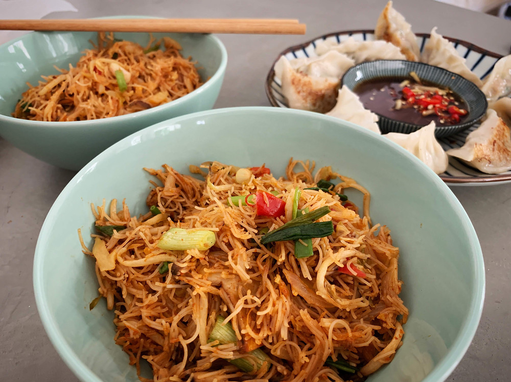 Alycooks Cincalok Fried Bee Hoon Spicy with Minced Chicken