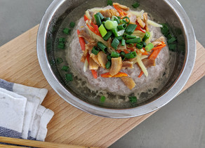 Chinese Steamed Chicken Cake with Salted Fish