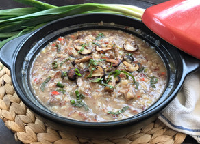 Eat Healthy : Mushroom & Leek Brown Rice Risotto