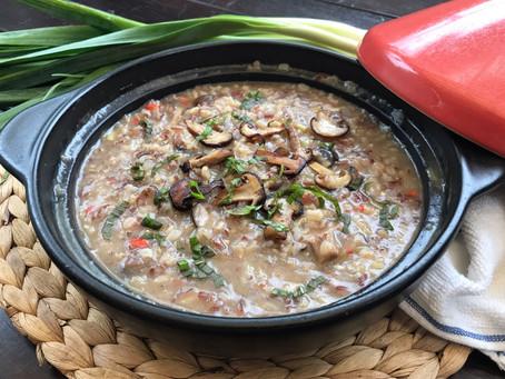 Eat Healthy : Mushroom & Leek Brown Rice Risotto