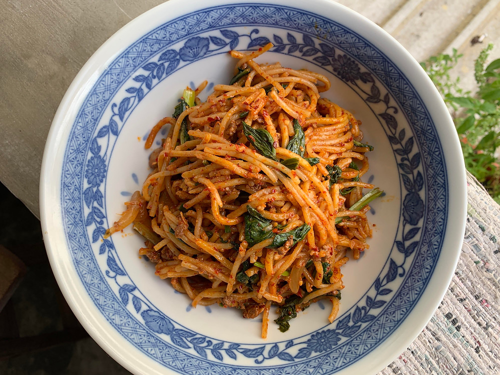 Mee Goreng Mutton, Mutton Fried Malay Spicy Noodles
