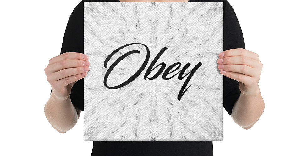 Obey (White) Canvas