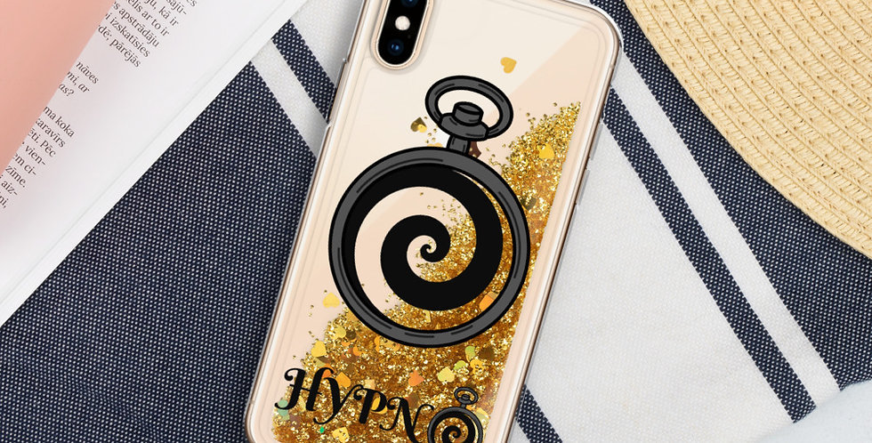 Hypno Spiral Liquid Glitter Phone Case
