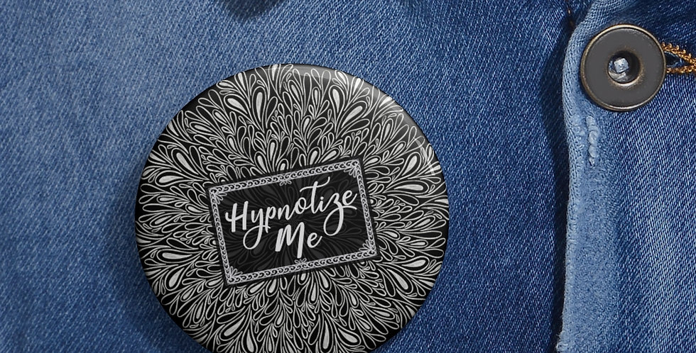 Hypnotize Me Button (Black)