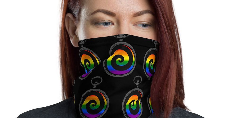 Gay Spiral Pride Neck Gaiter