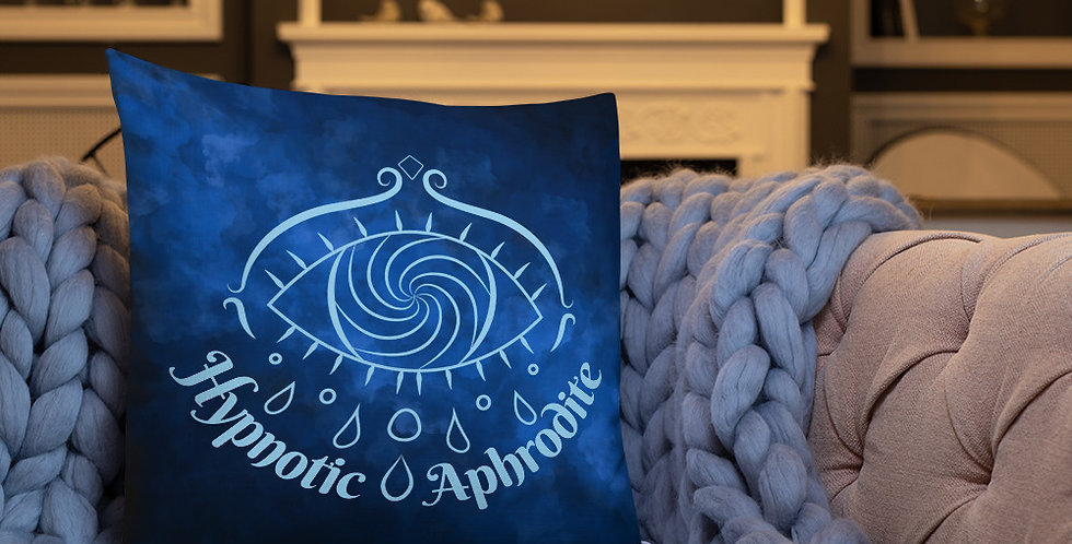 Hypnotic Aphrodite Pillow (Deep Blue)
