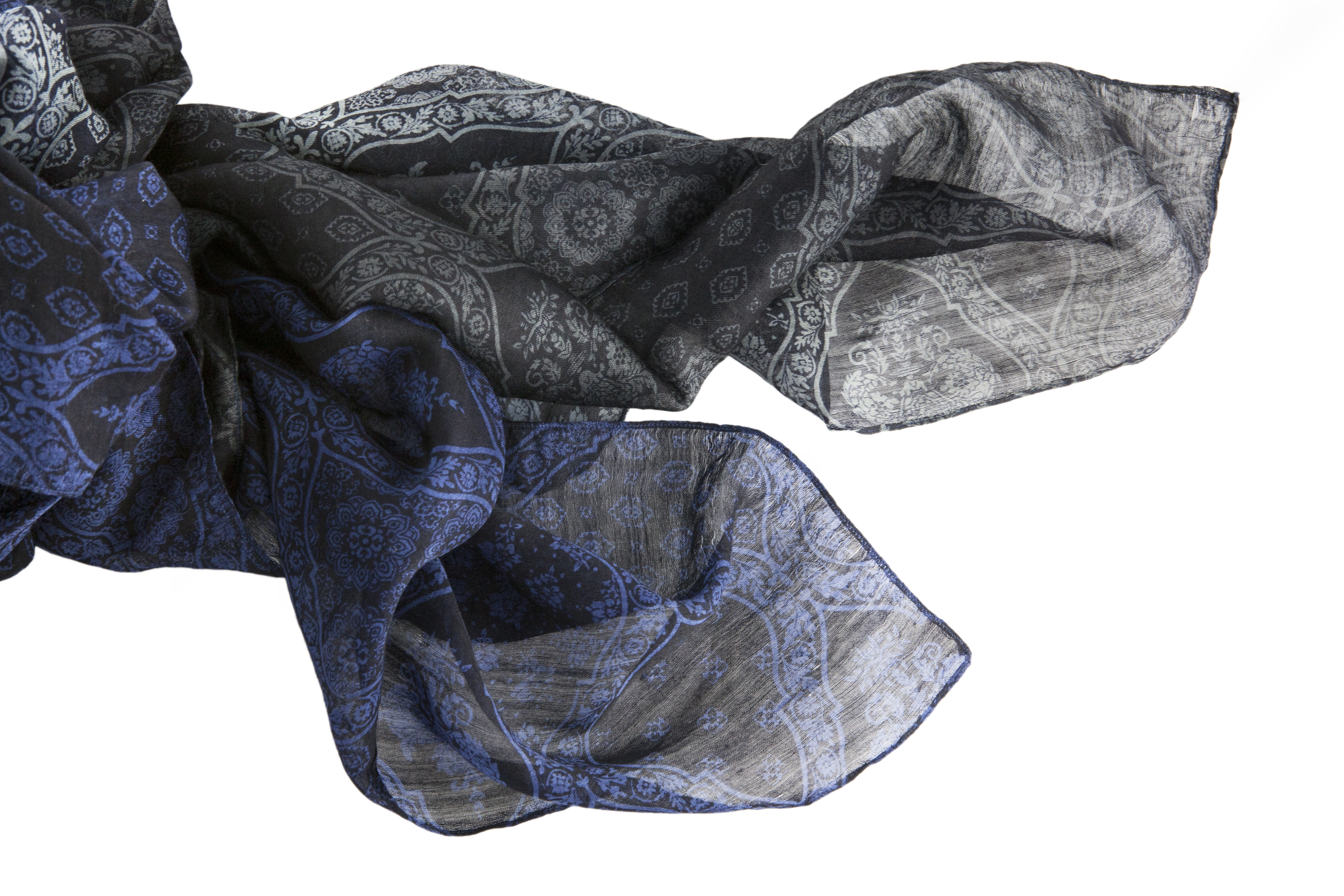 Silk & cashmere jaquard wrap