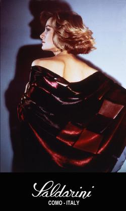Burnout velvet scarf from the 80's