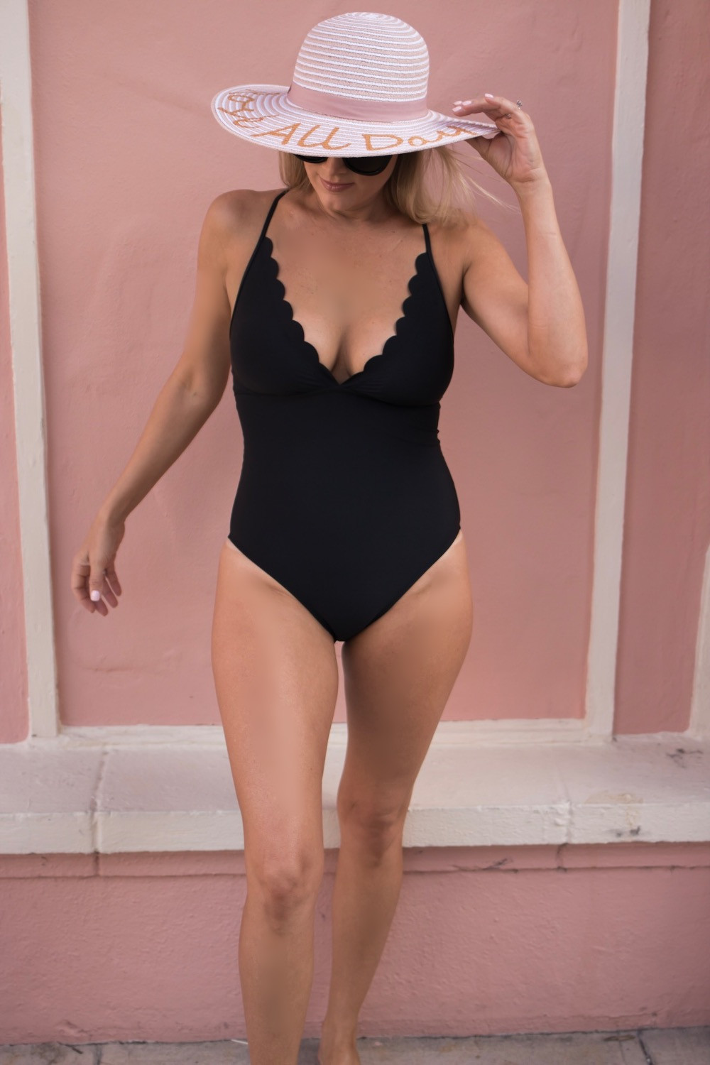 Girl at Boca Resort in La Blanca Scalloped One Piece