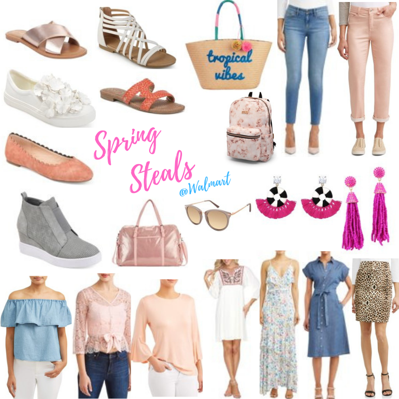 spring top spring jeans spring earring spring bag