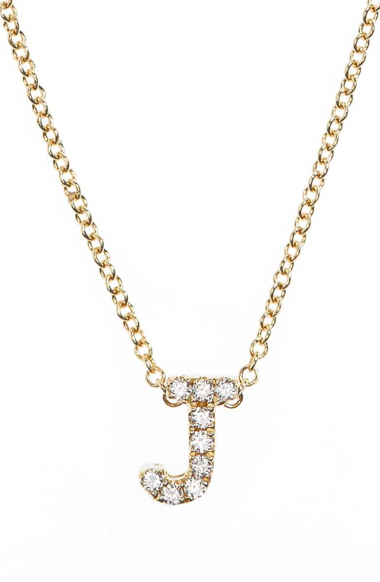 BONY LEVY 18K GOLD PAVÉ DIAMOND INITIAL PENDANT NECKLACE (NORDSTROM EXCLUSIVE)