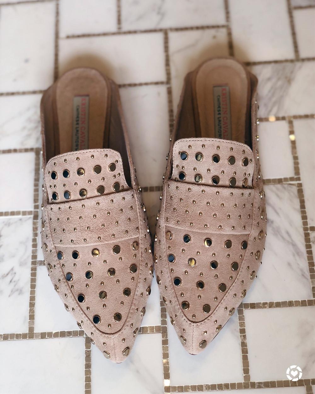 Kristin Cavallari Charlie Studded Loafer Mule (Women)