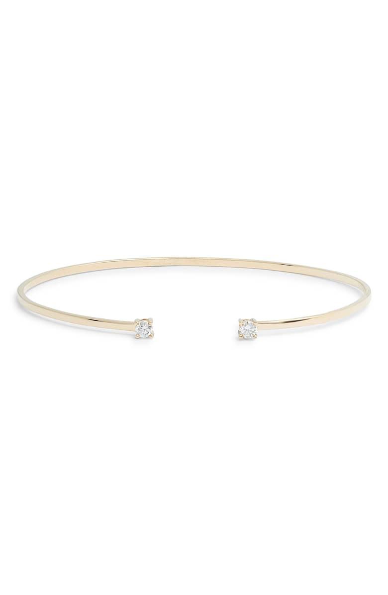 14k Gold Echo Diamond Cuff Bracelet