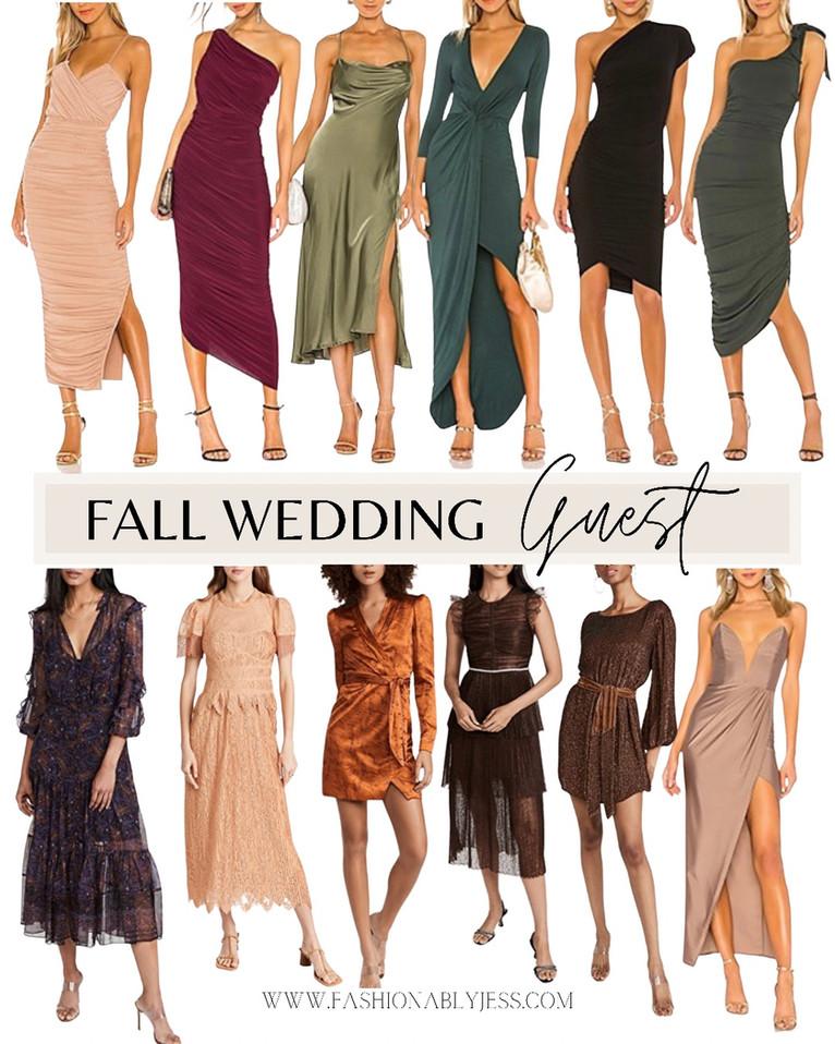 FALL WEDDING GUESTS DRESSES