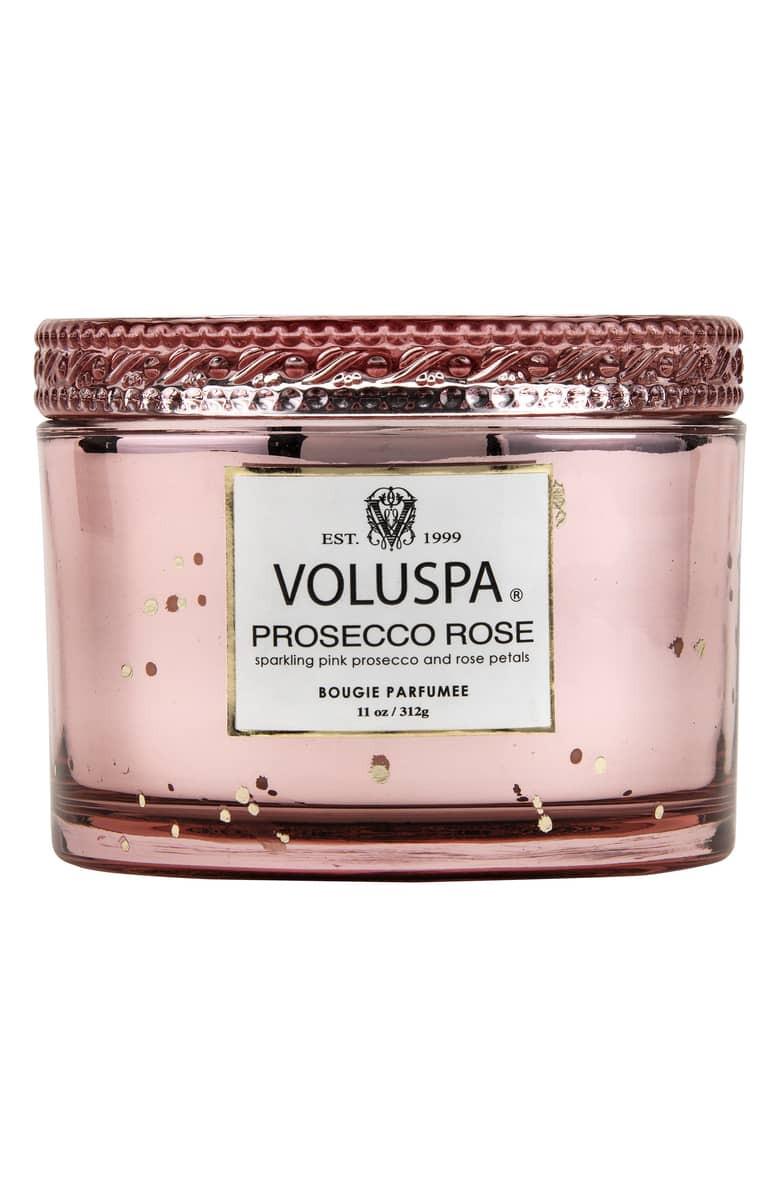 Vermeil Prosecco Rose Corta Maison Candle