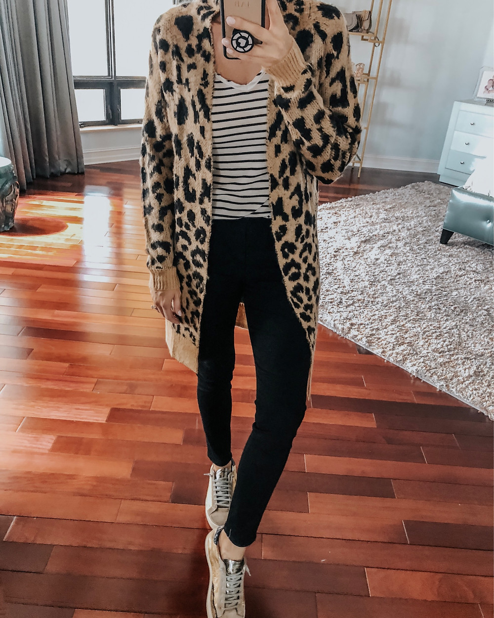 long leopard cardigan from amazon