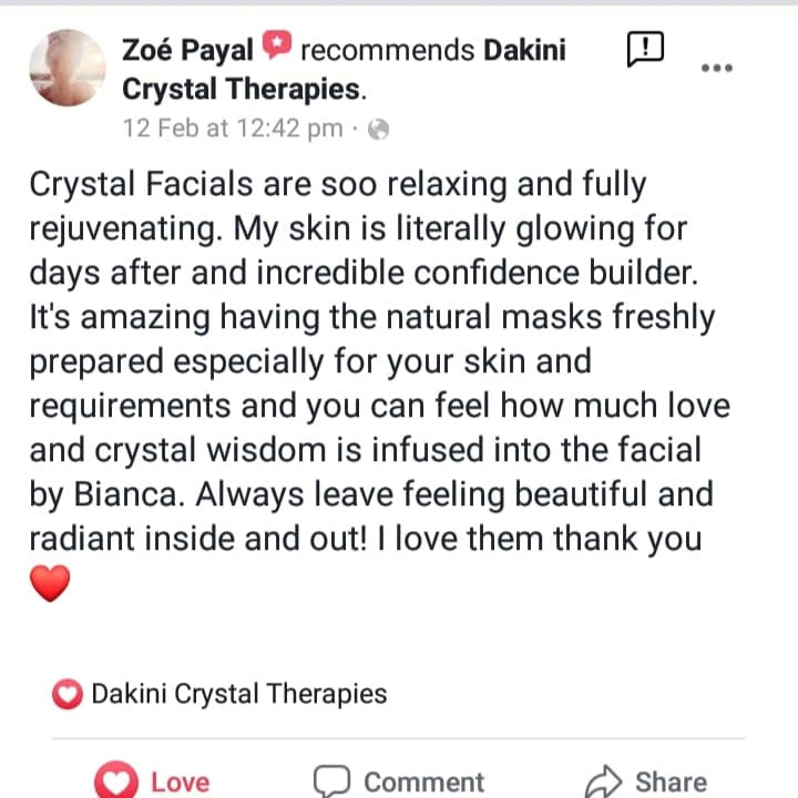 Why not treat your skin to a crystal facial?