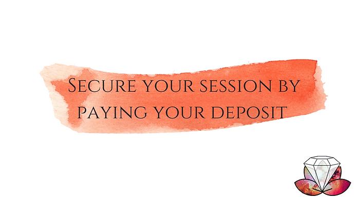 £15 in person 1 2 1 private session deposit