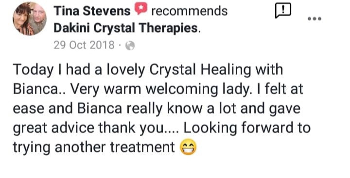 I love to pass on my crystal knowledge to help you help yourself beyond out sessions