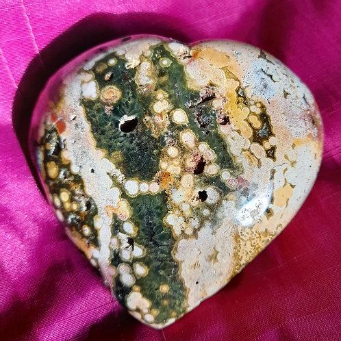 Beautiful Ocean Jasper heart - Large & Chunky