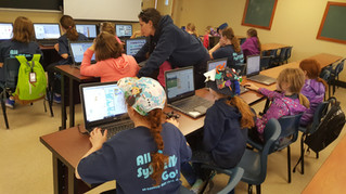 CyberLaunch Academy participates in AARMS camp for Girl Guides