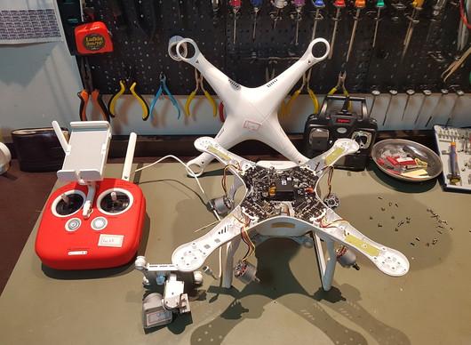 Troca da Carcaça do Drone DJI Phantom 3 é na ModelismoBH