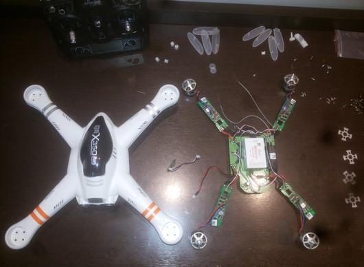 Troca da Carcaça e Gps do Drone Walkera QRX 350 Pro