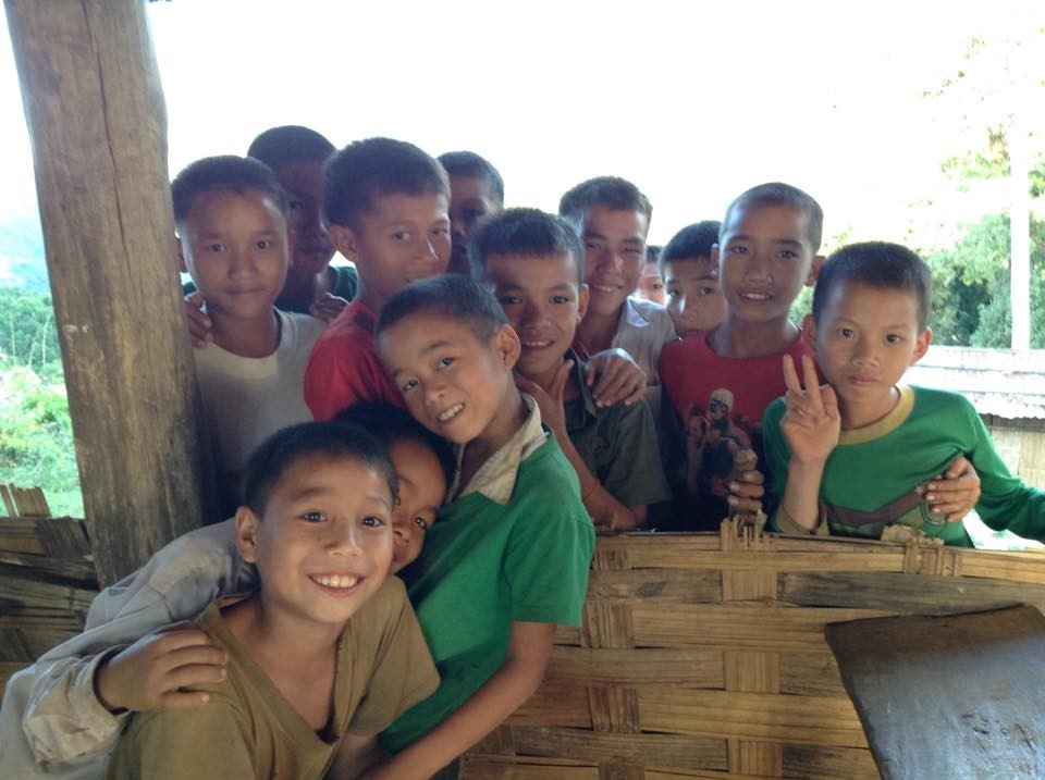 Laos boys smiling