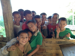Laos boys smiling