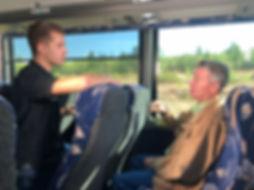John Webb interviews Brad Little on Bus Tour