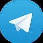 logo do telegram. circulo azul com avião de papel branco dentro