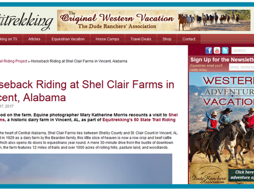 ShelClair Featured in Equitrekking's 50-State Trail Riding Project