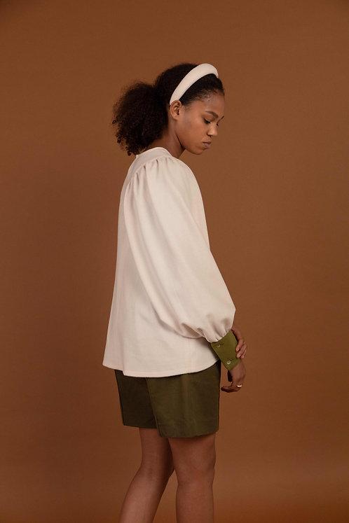 Cashmere-Wool Shirt White