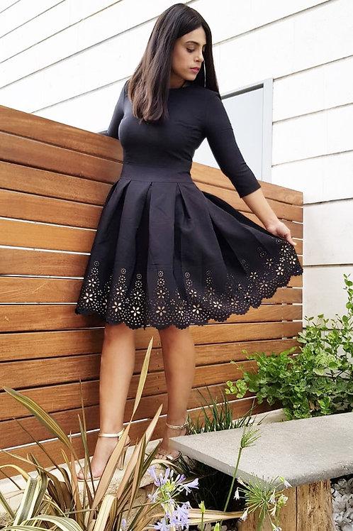 Gold Pattern Dress (Back) - SALE קבלי 100 ש״ח הנחה